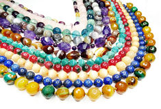 Semigem-Halskette mit hellem Kristallschmuck Lizenzfreies Stockbild