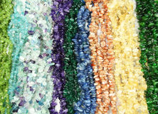 Semigem necklace with bright crystals jewelry Royalty Free Stock Images