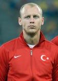 Semih Kaya im Spiel die Rumänien-Türkei-Weltcup-der näheren Bestimmung Lizenzfreies Stockfoto