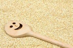 Semilla blanca orgánica de la quinoa, lat Chenopodium - quinoa Foto de archivo