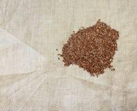 Semilla de lino de Brown Foto de archivo