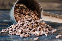 Semillas de cacao Fotografía de archivo libre de regalías