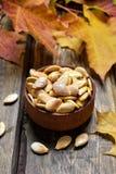 Semillas de calabaza asadas Foto de archivo libre de regalías