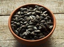 Semillas de girasol asadas negro imagen de archivo libre de regalías