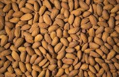 Semillas de la almendra como fondo de la comida Imagen de archivo