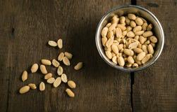 Semillas de la foto de los cacahuetes Fotos de archivo