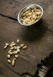 Semillas de la foto de los cacahuetes Foto de archivo libre de regalías