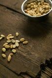 Semillas de la foto de los cacahuetes Fotografía de archivo libre de regalías