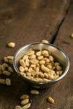 Semillas de la foto de los cacahuetes Foto de archivo