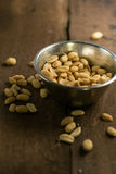 Semillas de la foto de los cacahuetes Imagen de archivo