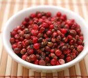 Semillas de la pimienta roja Imagen de archivo libre de regalías