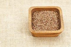 Semillas de lino de Brown Fotografía de archivo