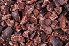 Semillas del cacao, cierre para arriba Fotografía de archivo libre de regalías