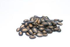 Semillas negras del melón Imagen de archivo
