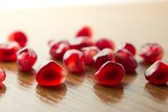 Semillas rojas de los granates Imagen de archivo libre de regalías
