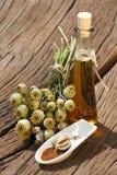 Semillas y aceite de amapola Imagen de archivo