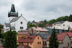 Semily,捷克共和国 免版税图库摄影