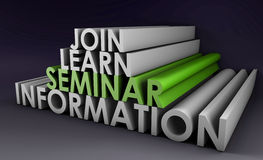 Seminar. To Join and Learn Information in 3d Royalty Free Stock Photo