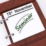 Seminar Appointment Shows Schedule Scheduling And Presentation. Seminar Appointment Showing Schedule Scheduling And Presentation Stock Images