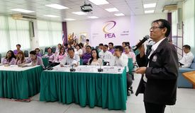 Seminar attendees in Thailand. Stock Image