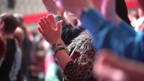 Seminar audience conference applause, Hands of group of business people applauding close up. meeting training coach