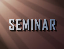 Seminar bright 3d text Royalty Free Stock Photos