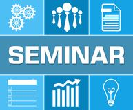 Seminar Business Symbol Blue Grid Royalty Free Stock Images
