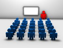 Seminar, business training 3d abstract concept Stock Photography