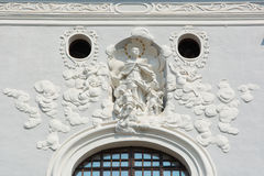 Seminar church's baroque stucco. Renewed baroque stucco over the eye window on the seminar church in Košice Royalty Free Stock Photos