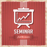 Seminar Concept in Flat Design. Stock Images