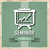 Seminar Concept on Green in Flat Design. Stock Images