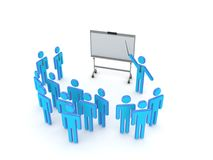 Seminar concept. Isolated on white background.3d rendered illustration Royalty Free Stock Photo