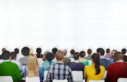 Seminar-Konferenz-Sitzungs-Leute, die Darstellungs-Konzept lernen Lizenzfreie Stockfotos