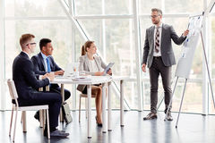 Seminar of managers Royalty Free Stock Photography