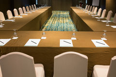 Seminar and meeting room. Arrangement Royalty Free Stock Image