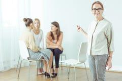 Seminar for modern active woman Royalty Free Stock Photo