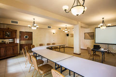 Seminar room with antique furniture Stock Photography