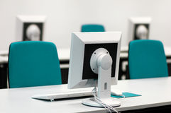 Seminar room with Screens. Seminar room with PC-Screens an -Keyboards Royalty Free Stock Photography