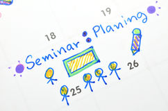 Seminar on time planner Royalty Free Stock Photos