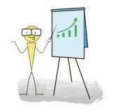 Seminar und Darstellungen auf einem weißen Hintergrund Stockfoto