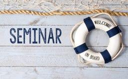 Seminar - Willkommen an Bord Lizenzfreies Stockfoto