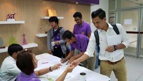 Seminariedeelnemers in Thailand Stock Foto