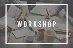 Seminario del taller que aprende concepto del grupo de estudio Imagen de archivo