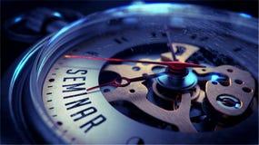 Seminario sobre cara del reloj de bolsillo Mida el tiempo del concepto Imágenes de archivo libres de regalías
