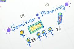 Seminario sobre planificador del tiempo Fotos de archivo libres de regalías