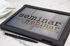 seminarium Arkivfoton