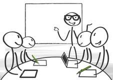 Seminarium som möter stock illustrationer