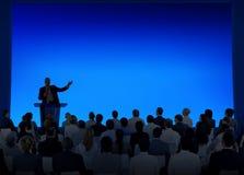 Seminarium Team Concept för möte för affärskonferens Arkivfoton