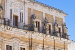 Seminary palace. Brindisi. Puglia. Italy. Royalty Free Stock Image
