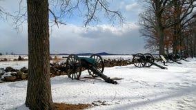 Seminary Ridge. Canons along Seminary Ridge, Gettysburg, PA Stock Photo